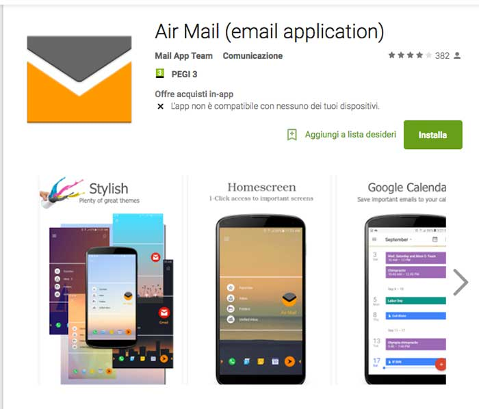 Email app Airmail Android provala - Android app